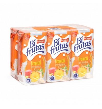 Lait + jus de fruit Bifrutas Tropical pk-6 200 Ml