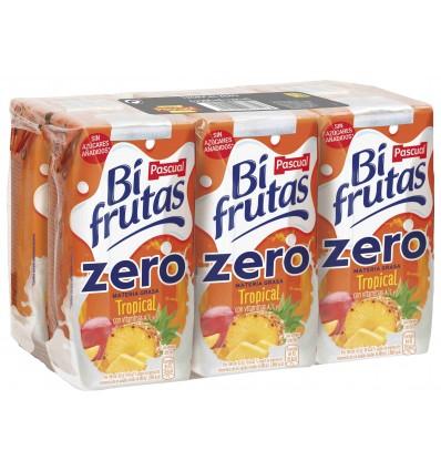 Leche+zumo Bifrutas Tropical Zero Pk-6 200