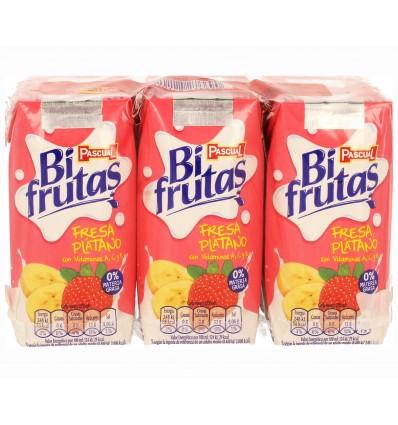 Milk + juice Bifrutas Fresa-platano Pk-6 200 Ml