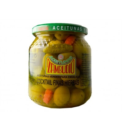 Coktail Olives and Pickles Fines Herbs Zambudio