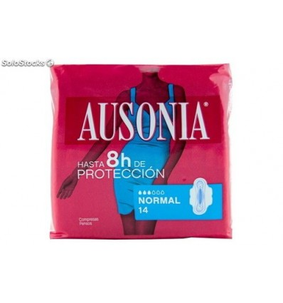 Female pads Ausonia Ultra wings 14 Units