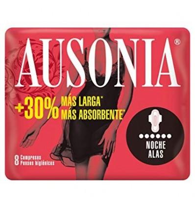 Compresses féminines Ausonia Ultra Ailettes Nuit 9 Unités