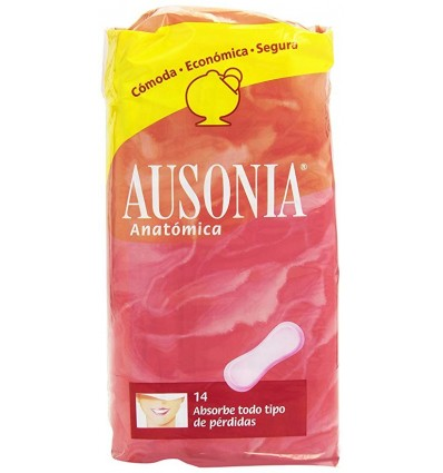 Female pads Ausonia Anatomica 14 Units