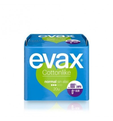 Compresses féminines Evax Cottonlike 20 Unités