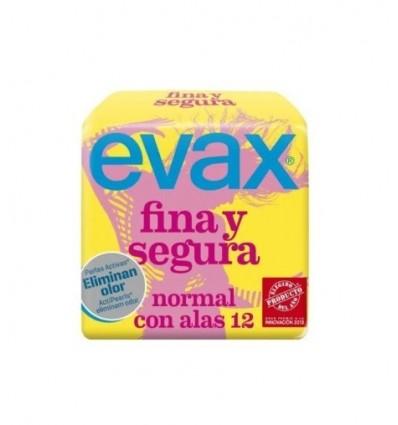 Compresas femeninas Evax Fina-segura Alas Normal 12 Unidades