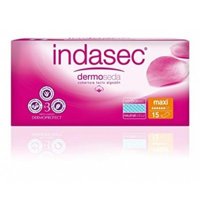 Female pads Indasec Incontinence Maxi 15 Units
