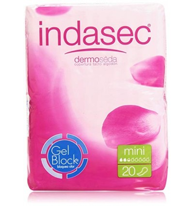 Compresas femeninas Indasec Incontinencia Mini 20 Unidades
