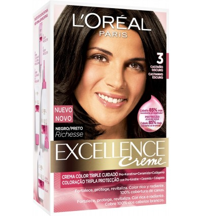 Tinture cheveux Excellence 3 Chatain
