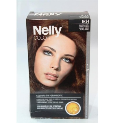Coloration cheveux Nelly Nº6 34