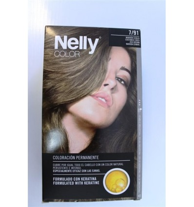 Coloration cheveux Nelly Nº7 91