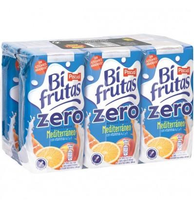 Leche+zumo Bifrutas Mediteraneo  Zero Pk-6 200 Ml