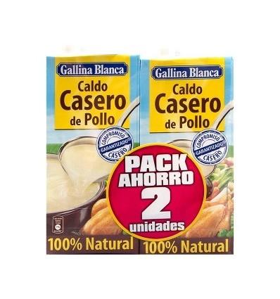 Caldo Gallina Blanca Casero Pollo 1 L Pack-2