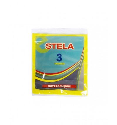 Bayeta Stela Fibra Amarilla Pack-3