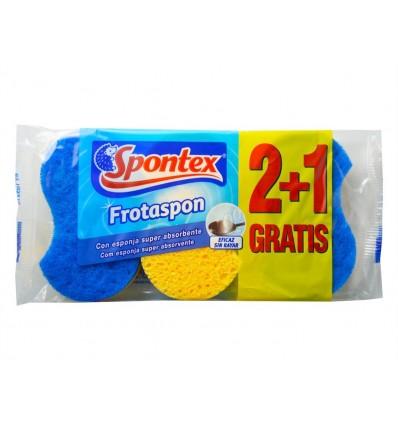 Estropajo Spontex Frotaspon No Raya Pack-2
