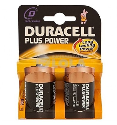 Pilas Duracell Plus Lr-20 Pack-2