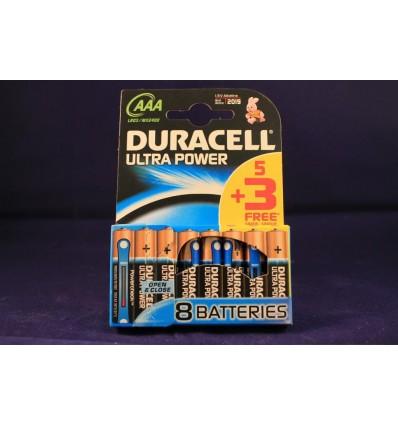 Pilas Duracell ULra Lr-03 Pack 5+3
