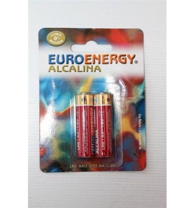 Pilas Euroenergy Alcalina Lr-6 Pack-2