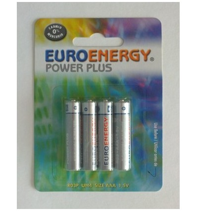 Pilas Euroenergy R03 Pack-4