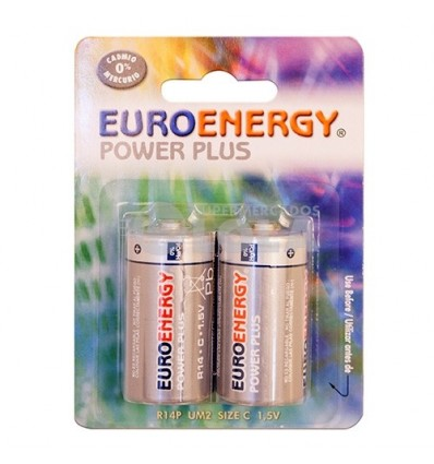 Pilas Euroenergy R-14 Pack-2