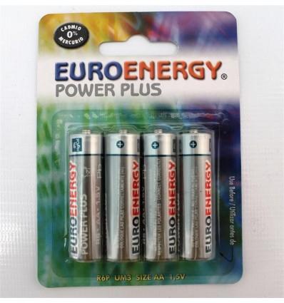 Pilas Euroenergy R-6 Pack-4