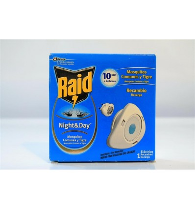 Insecticide Raid Electrique Night & Day Recharge