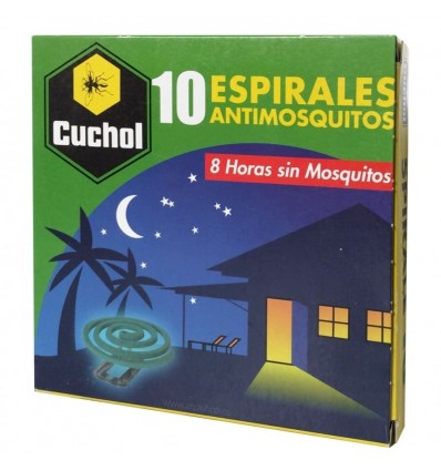 Insecticide Cuchol Mosquitos 10 spirales