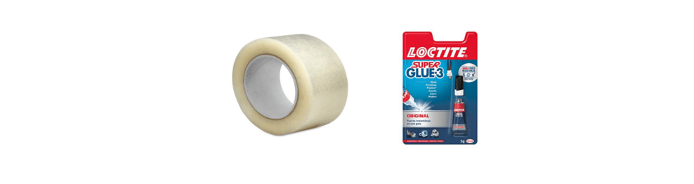 RUBBER TAPE AND GLUE